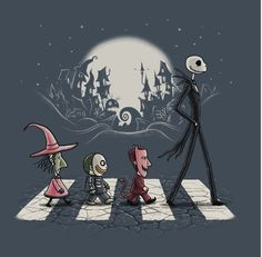 HALLOWEEN ROAD by TonyCenteno is available for $18 in the Gallery! Get it here: http://www.teefury.com/gallery/2948/Halloween_Road/?&c3ch=Social&c3nid=Pinterest