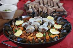 Chef Jacob Hough of Barcelona in Columbus' German Village came up with this paella, a rice casserole filled with seafood, chicken, sausage and vegetables.