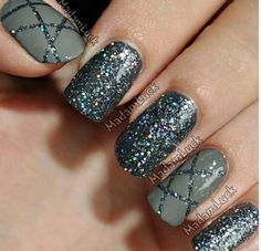 Gray and charcoal glitter!