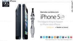 iPhone 5 combina com Qismoke- 1100mAh Ego-CE4S Stem Detachable