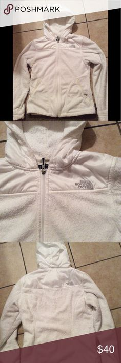 Northface fleece jacket Northface women's fleece jacked hoodie white great condition small North Face Jackets & Coats