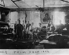 #throwbackthursday to the trim shop of the McLaughlin Carriage Company, 1892. Want to know more about the McLaughlin Carriage Company? Join us Sun Aug 6 for our Build in Oshawa Carriage Talk & Tour! 12:30pm! Happy McLaughlin Day! (A985.40.2/A979.24.2).  .  .  .  #oshawa #oshawamuseum #ouroushawa #mclaughlin #carriages #archives #vintage #tbt