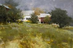 """Grown Up"", 14"" x 20"", Oil on Linen, by Mark Boedges (Richard Schmid's barn, Putney, Vermont)"