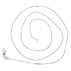 Luxurman Solid 14k Gold 1.1-millimeter Wide Classic Box Chain Lobster-claw Necklace (14k