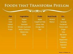 Foods that transform phelgm