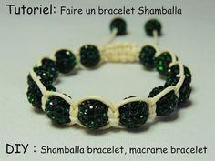Bracelet Shamballa macramé facile avec perles - YouTube