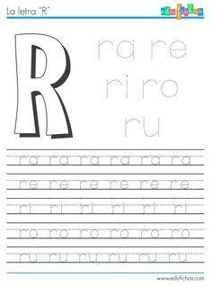 Sílabas con R http://www.edufichas.com/actividades/lectoescritura/silabas/silabas-con-r/ #learnspanish #silabas #letras #preschool #preescolar