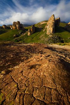 Sandstone buttresses in the Eastern Cape Highlands of South Africa.