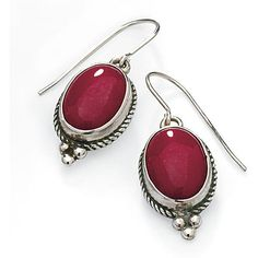 Sterling Silver and Red Agate Earrings ($100) ❤ liked on Polyvore featuring jewelry, earrings, earring jewelry, sterling silver jewelry, agate earrings, agate jewelry and red jewellery