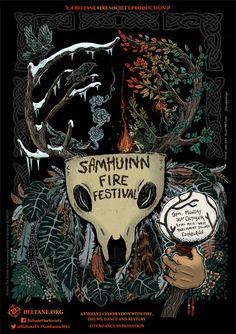 The Samhuinn Fire Festival in Edinburgh on Hallow'een. A festival of Celtic tradition.