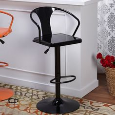 Simple Living Retro Max Adjustable Height/ Swivel Bar Stool | Overstock.com Shopping - The Best Deals on Bar Stools
