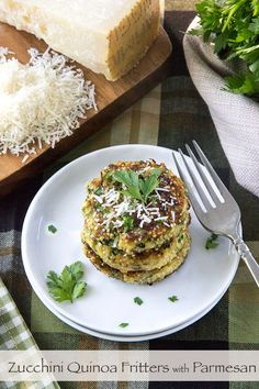 Zucchini Quinoa Fritters with Parmesan