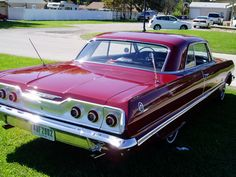 '63 Chevy Impala....learned to drive a stick shift on one....