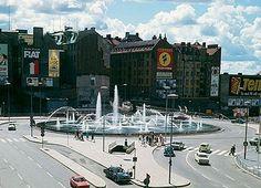 Sergels torg 1968. Stockholm Sweden, Happenings, History, Sweden, Photo Illustration