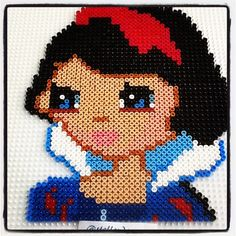 Snow White portrait perler beads by stelloudraw