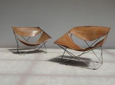 be: Pure vintage Pierre Paulin Artifort 'Butterfly' chairs City Furniture, Leather Furniture, Metal Furniture, Online Furniture, Vintage Furniture, Modern Furniture, Furniture Design, Palette Furniture, Eames Rocking Chair