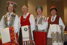 Native Latvian ladies display their handmade traditional costumes. by Oak Park Public Library, via Flickr