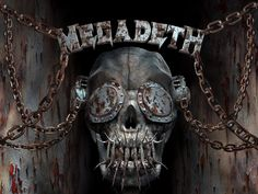 There's no denying that Dave Mustaine and the vast amount of musicians that have at some point or another comprised thrash metal icons Megadeth have writte Thrash Metal, Skull Wallpaper, Hd Wallpaper, Arte Heavy Metal, 80s Metal Bands, Vic Rattlehead, Rock Album Covers, Metal Albums, Skull And Bones