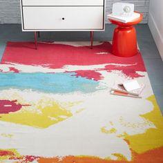 Kate Spade Saturday Abstract Printed Rug - Multi | West Elm