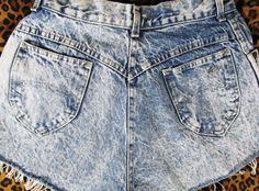 80s ACID WASH High Waist Upcycled Denim Jean by SpeckledRed, $35.00