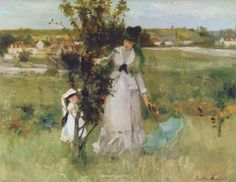 PROPERTY FROM AN AMERICAN COLLECTION Berthe Morisot CACHE-CACHE 3,000,000 — 4,000,000 USD LOT SOLD. 5,168,000 USD (Hammer Price with Buyer's Premium) DETAILS & CATALOGUING  Berthe Morisot 1841 - 1895 CACHE-CACHE Signed Berthe Morisot (lower right) Oil on canvas 18 1/4 by 21 3/4 in. 46.3 by 55.2 cm Painted in 1873.