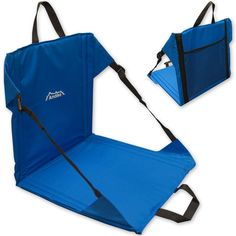 Andes Blue Folding Beach Chair Outdoor Garden Portable Stadium Seat in Sporting…
