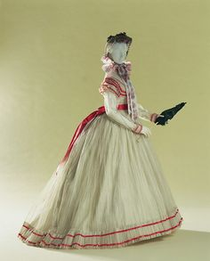 1866 sheer dress from the Kyoto Costume Institute Vintage Gowns, Mode Vintage, Vintage Outfits, Historical Costume, Historical Clothing, Historical Dress, Victorian Fashion, Vintage Fashion, Victorian History