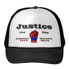 Armenian Genocide Hat  #ArmenianGenocide Go to www.zazzle.com/monstervox for more Armenian Genocide products