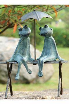 Frog Lovers Garden Statue - Frog Statues - Garden Statues - Garden Statuary   HomeDecorators.com