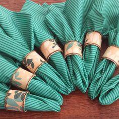 Porta Guardanapos em tecido. Várias estampas. Combine com guardanapos de algodão.