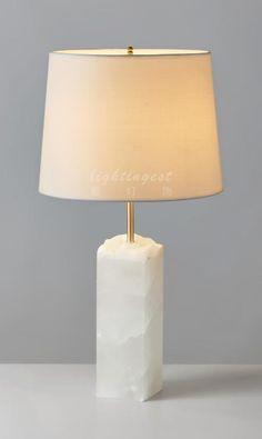 Modern lamp【最灯饰】现代奢华美式玉石头创意新款设计师样板房台灯