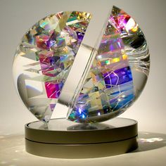 """""""Isisphere"""" by Toland Sand. High end contemporary glass art at its finest."""
