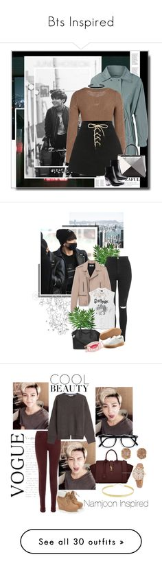 """""""Bts Inspired"""" by awkmusician ❤ liked on Polyvore featuring Seok, H&M, Fendi, Bliss, vintage, zaful, Topshop, Yves Saint Laurent, Puma and Givenchy"""
