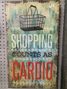 Don't let anyone tell you otherwise... Come get your cardio on tomorrow here at Real Deals. #retail #therapy #shopping #cardio #realdeals #flagstaff