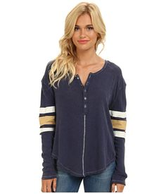 Free People Game Time Henley Black Combo - Zappos.com Free Shipping BOTH Ways