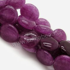 Gemstone Beads, Candy Jade, Color #1 dark violet, Smooth puffy disc, Approx 10x5mm, Hole: Approx 1.2mm, 38pcs per strand, Sold by strands
