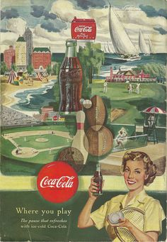 Those vintage magazines are full of cool old advertisements which are colorful and artful.