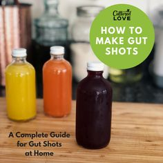 How to Make Gut Shots at Home Gut Shots to Soothe Your Stomach, Mind, and Soul Gut shots have been gaining a lot more attention lately, and for good. Juice Smoothie, Smoothie Drinks, Detox Drinks, Detox Juices, Healthy Juices, Healthy Smoothies, Healthy Drinks, Healthy Detox, Gut Health