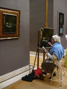 Painting classes @ The Louvre