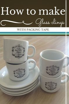 How to make glass clings with packing tape | vintage reflections