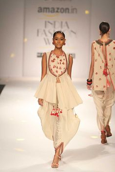 AIFWAW'16D2S5bNikashaRunway029 Fall Winter, Autumn, India Fashion Week, Peplum Dress, Summer Dresses, Spring 2016, Style, Riding Habit, Summer Sundresses