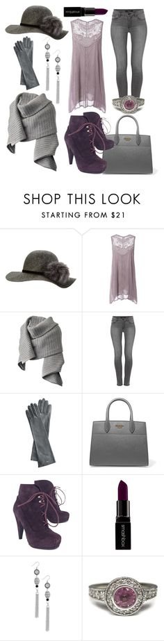"""""""Grey Days of Winter"""" by stephanie-mcclaran ❤ liked on Polyvore featuring Acne Studios, J Brand, Mark & Graham, Prada, Proenza Schouler, Smashbox and Lucky Brand"""