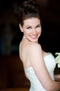 clear and natural. bridal makeup
