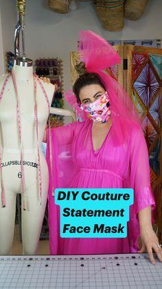 Diy Mask, Diy Face Mask, Face Masks, Diy Fashion, Latest Fashion, Fashion Outfits, Fashion Design, Tulle Fabric, Cotton Fabric