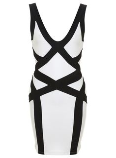 Monochrome Bandage Dress - Miss Selfridge Europe