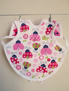 Pretty Leaves Bapron Colorful Leaves Girly Pattern by HomespunWhit