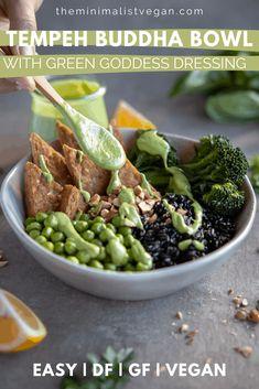 Best Vegan Recipes, Healthy Recipes, Healthy Food, Vegan Vegetarian, Vegetarian Recipes, Green Goddess Dressing, Buddha Bowl, Tempeh, Tofu