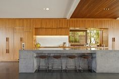 Concrete island contemporary-kitchen