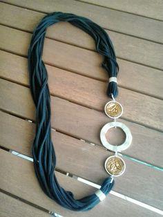 nespressart bijoux: Collane di fettuccia e cialde