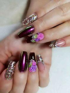 Glamour Nails, Classy Nails, Trendy Nails, Cute Nails, Perfect Nails, Gorgeous Nails, Acrylic Nail Designs, Nail Art Designs, Gel Nail Kit